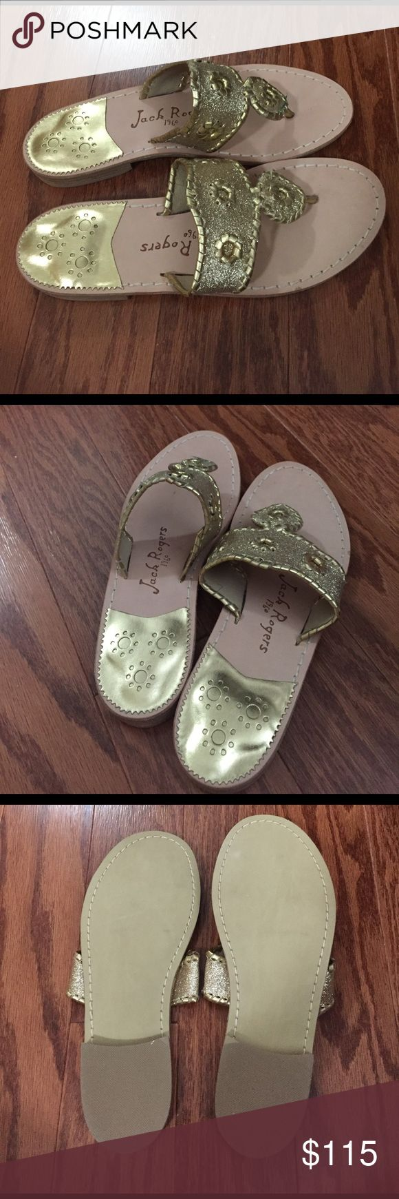 Gold sparkle Jack Rogers sandals Gold glitter Jack Rogers - size 7 - brand new - never worn - box included Jack Rogers Shoes Sandals
