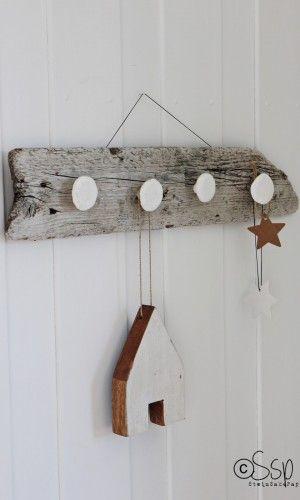 Slik lager du en flott knaggerekke av drivved - med helt hjemmelaga knagger!