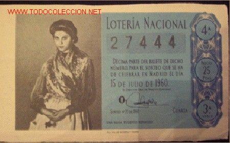 decimo loteria nacional 1960, lienzo una rosa, - Comprar Lotería Nacional en todocoleccion - 2253070 www.todocoleccion.net450 × 280Buscar por imagen DECIMO LOTERIA NACIONAL 1960, LIENZO UNA ROSA, PINTOR EUGENIO HERMOSO. (Papel - Lotería Nacional) Silvio Lago PINTOR - Buscar con Google