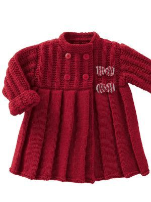 Coat - knitting pattern. Newborn to 2 years
