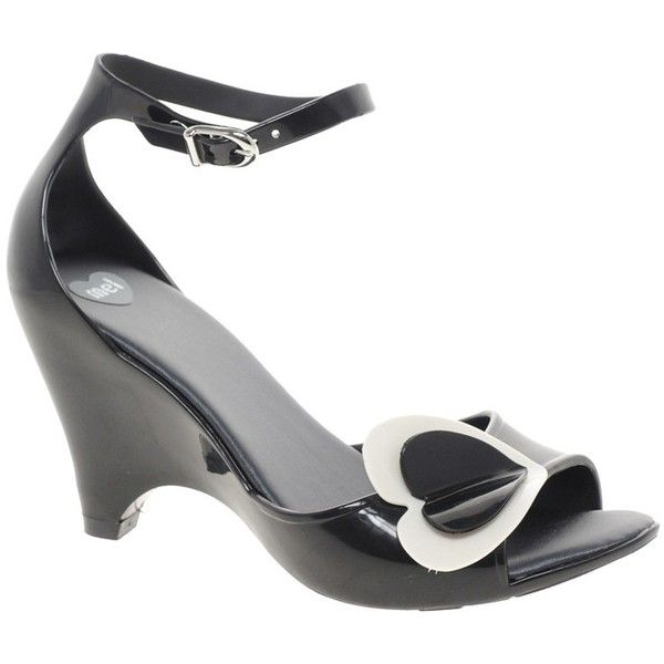Mel by Melissa Sandal with Heart ($21) ❤ liked on Polyvore featuring shoes, sandals, mel by melissa, heart shoes, mel by melissa shoes and mel by melissa sandals