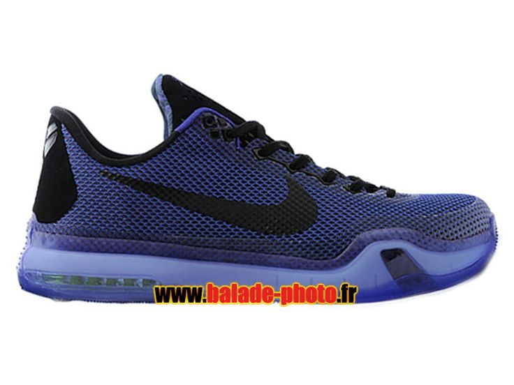 Nike Kobe 10 EM XDR Chaussures Nike Basketball Pas Cher Pour Homme Noir / Bleu 705317-006