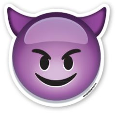 Smiling Face with Horns | Emoji Stickers