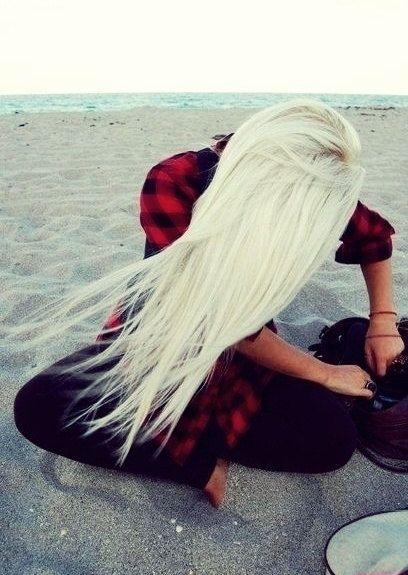 Platinum Blonde Hair  22 Inch Clip In Hair by TheHairAffair