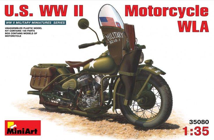 Maquette - U.S. WW II Motorcycle WLA - MiniArt 35080