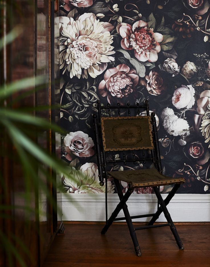 Oh that wall paper! Before & After: The Young Duchess Room at Stony Ford | Design*Sponge