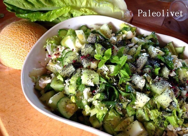 Paleolivet: Grøn salat med melon og mynte