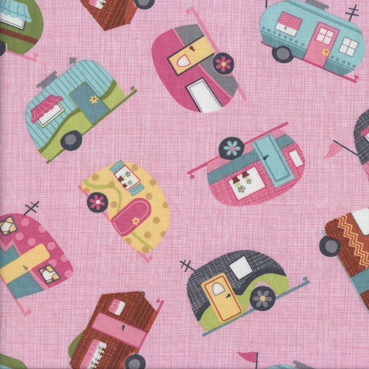 Caravans Pink Quilting Fabric - Find a Fabric. Available to purchase in Fat Quarters, Half Metre, 3/4 Metre, 1 Metre and so on.