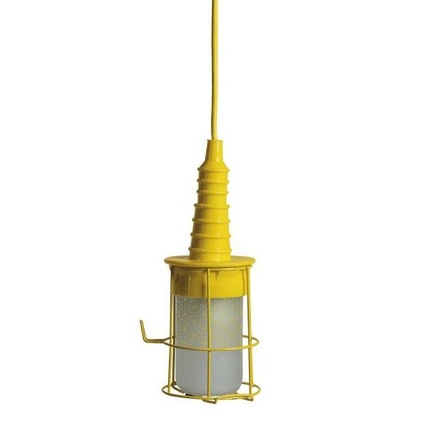 Looplamp geel Industieel