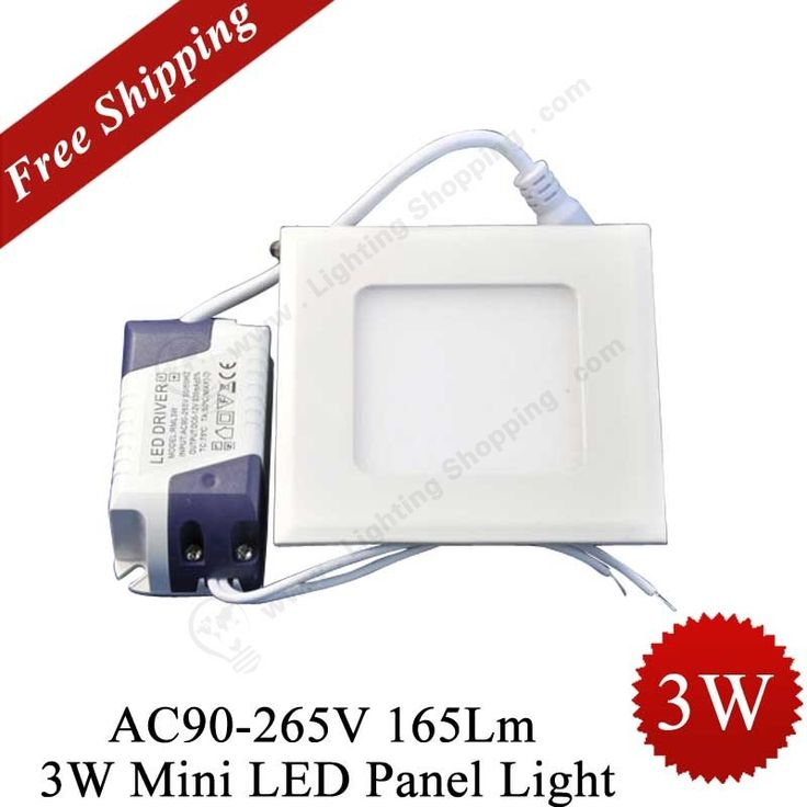 Hot item >>> #LED #Panel #Light,  Replaces 5W Fluoresent   3W, 165Lm, 110/220V, Square ,Click to view: http://www.lightingshopping.com/ac90-265v-3w-165lm-square-shape-warm-white-optional-small-mini-led-ceiling-panel-light-lamp-with-power-adapter.html