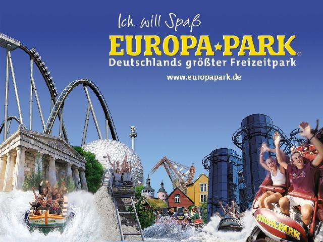 Europa Park in Rust, Germany. It's the second biggest amusement park in Europe and has about 15 different theme areas that are all themed for different European countries...FUN
