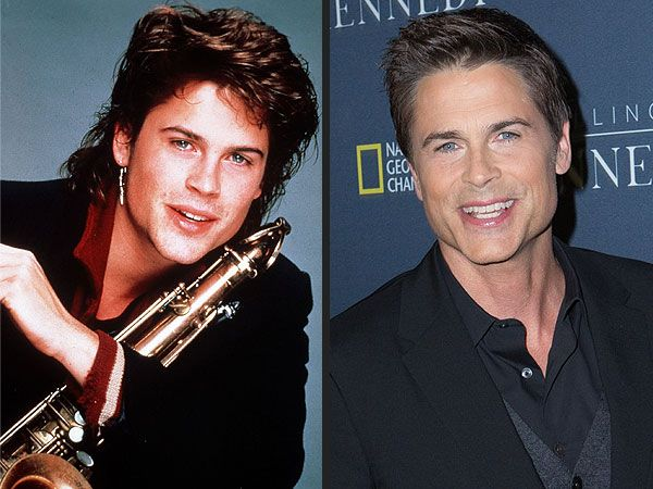 Photo Evidence That Rob Lowe Is an Ageless Wonder  Killing Kennedy, Rob Lowe <3 Rob Lowe in 1985's St. Elmo's Fire (left), Rob Lowe in November 2013 (right)