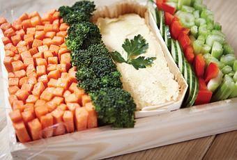 Je voulais vous montrer que servir des bâtonnets de légumes à l'apéritif ça pouvait aussi faire son petit effet ! Tout est dans la présentation.