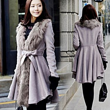 Soft & grey coat for women.  http://www.formalworkattire.com/finding-the-warmest-winter-coats-for-women/  #women's coat #coat #grey coat