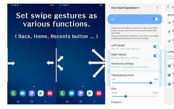How to use the One Hand Operation Good Lock app from Samsung