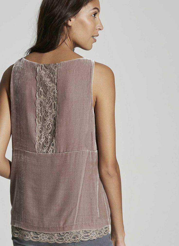 Mint velvet lace blouson top dress