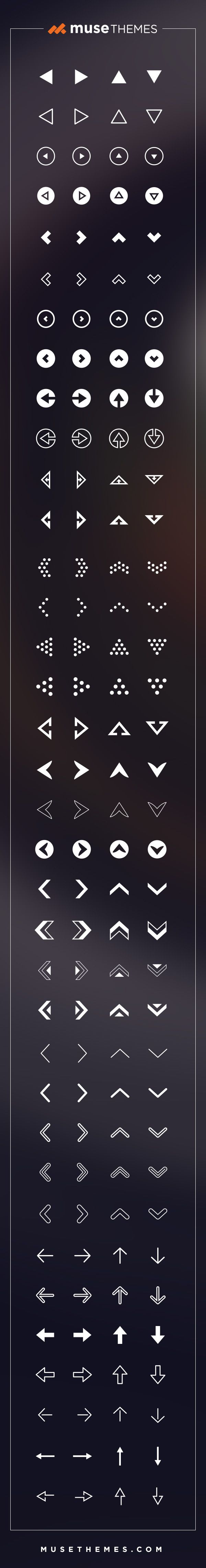 Direct traffic flow within your Adobe Muse website with the Arrows Graphic Pack, containing more than 500 arrow icons. - MuseThemes  #adobemuse #musethemes #web #webdesign #graphicdesign #design