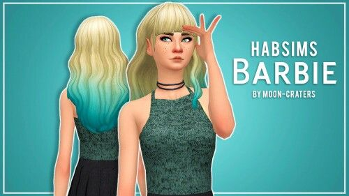 HABSIMS BARBIE Clay Hair TS4 Moon-Craters