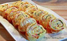 Manus Küchengeflüster: Ausprobiert: Käse-Schinken-Pfannkuchen