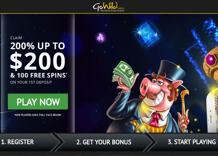 Go Wild Casino Bonus Players, 200 up to 200