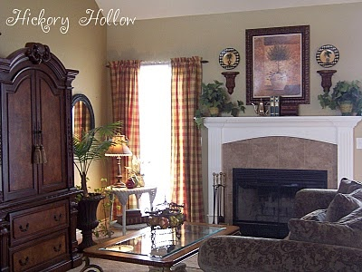 Prim And Country Living Room