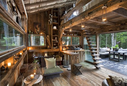This is a beautiful use of bringing outside in, love this space