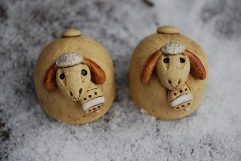 Keramické ovečky - mini dekorace keramika keramické ovečka ovečky keramická velikonoční z keramiky