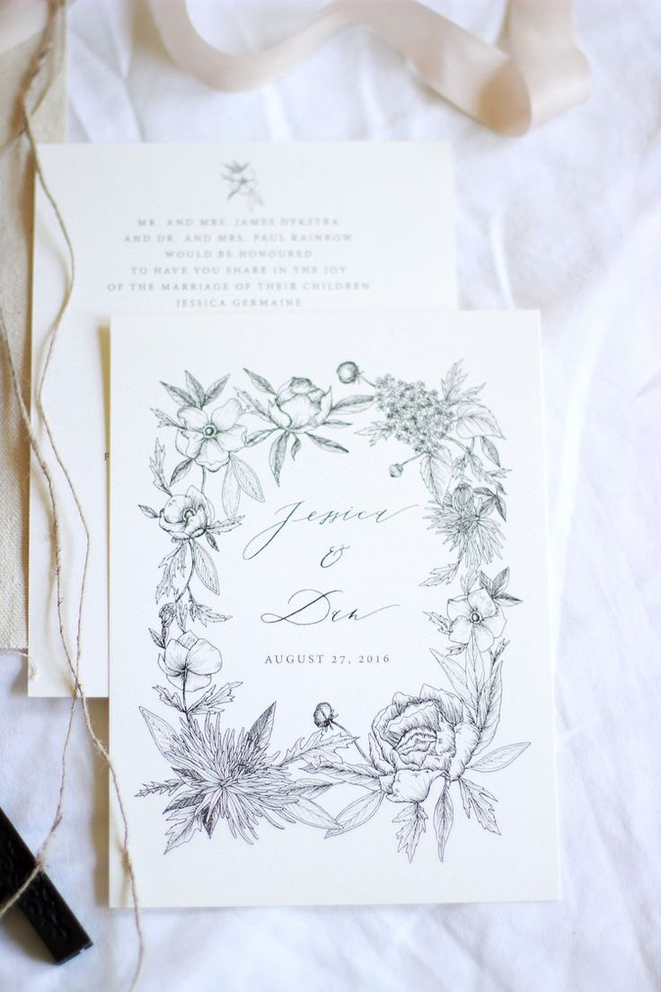 Jessica + Daniel — Esther Clark Illustration & Calligraphy