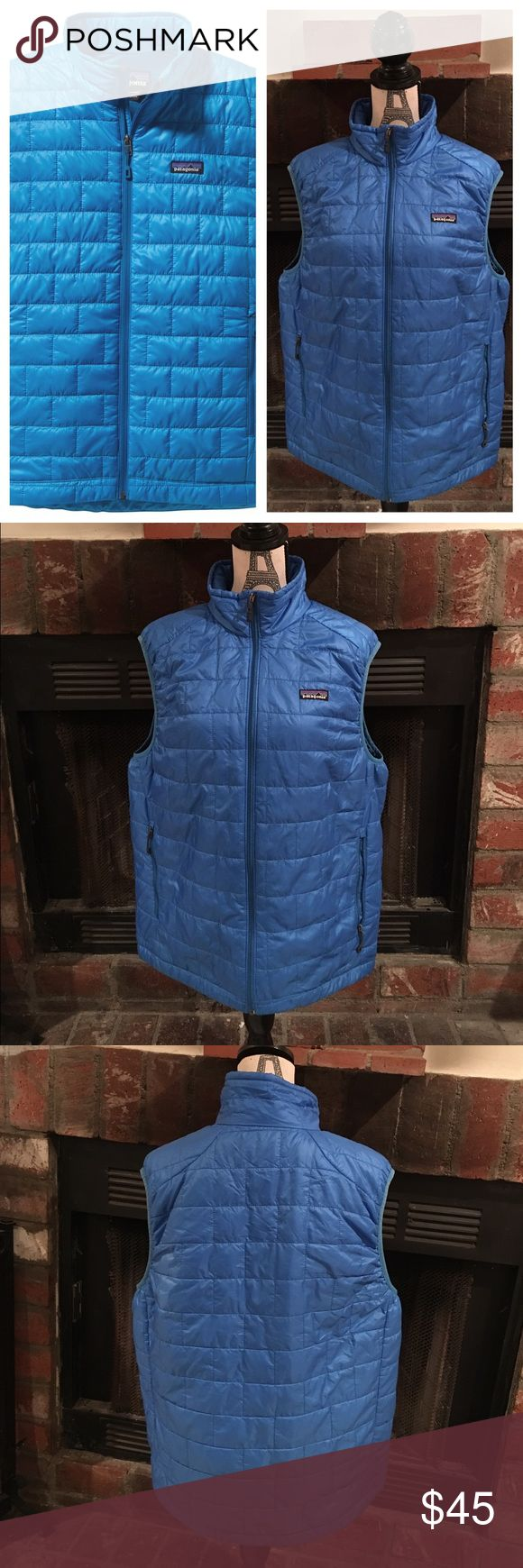 Patagonia Men's Nano Puff Vest  ❄️ Ideal for everything from backpacking to climbing to around town use, the Patagonia Men's Nano Puff Vest delivers lightweight, packable warmth featuring PrimaLoft ONE synthetic insulation that excels in damp and cold conditions, gently worn a few times, no stains or holes 👌🏼 Patagonia Jackets & Coats Vests