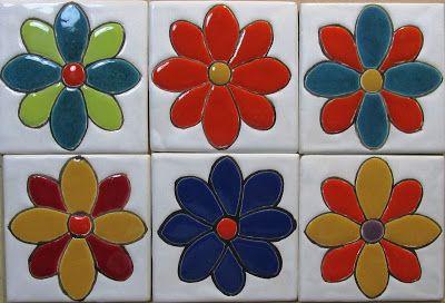 Azulejos con Arte: AZULEJOS ARTESANALES DECORADOS. 10X10CM