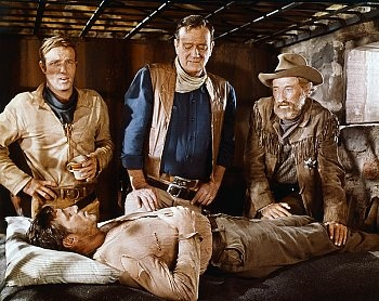 "james caan, john wayne, arthur hunnicutt, robert mitchum (""el dorado"", 1967, dir. howard hawks)"