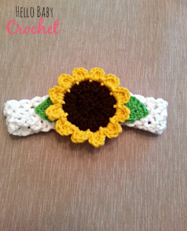 Sunflower Crochet Baby Hat Pattern : Best 25+ Sunflower Headband ideas that you will like on ...