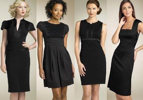 Черное платье для работы