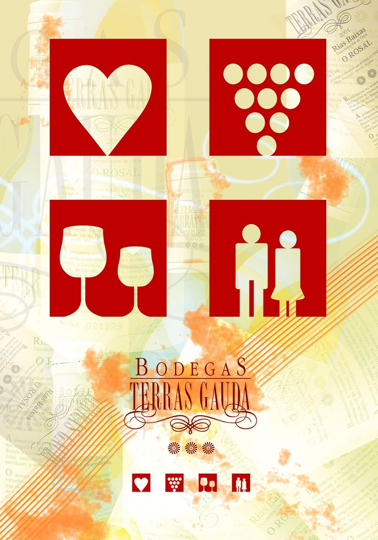 Bodegas Terras Gauda - Poster Design, Spanish wine - graphic icons, design contest. svejkovsky.Ivo@gmail.com Instagram: ivo_svejkovsky