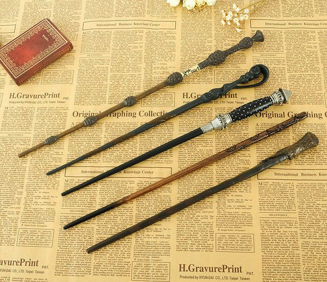 New Harry Potter Movie Wands Metal Core Cool Magical Wand High Quality Gift Box Magic Wand Harry Potter Harry Potter Wand Wands