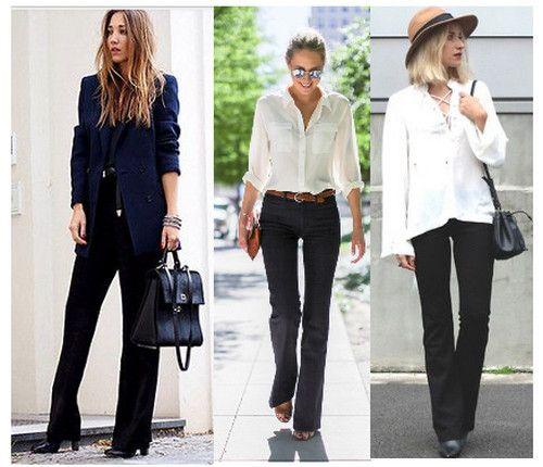 С чем носить черные брюки