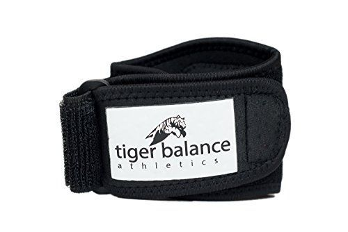 Tennis & Golfer's Elbow Brace with Extra Large Compression Pad by Tiger Balance Athletics - Best Tennis Elbow Strap Band Provides Support and Helps Ease Tendonitis and Forearm Pain >>> Check this awesome product by going to the link at the image.