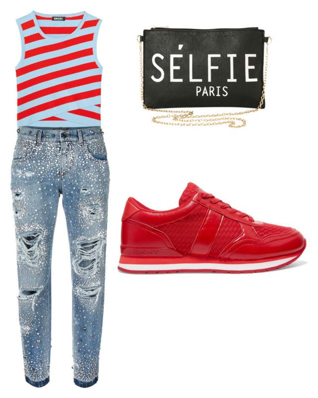 """""""My First Polyvore Outfit"""" by charlene-subbarayan on Polyvore featuring DKNY, Torrid and Dolce&Gabbana"""