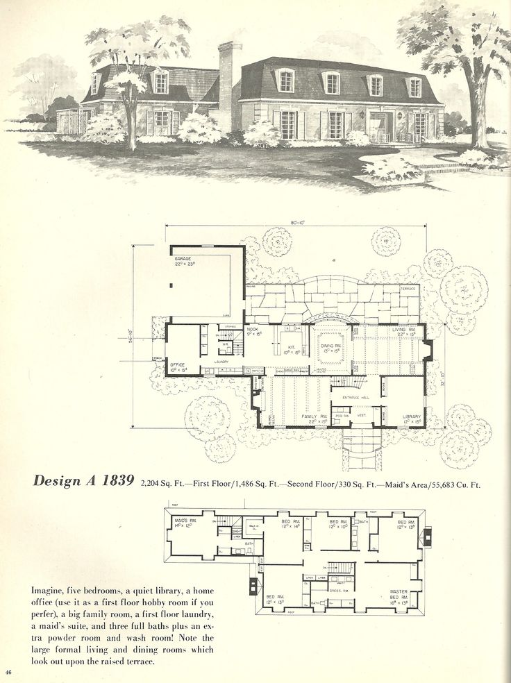 Best 25 vintage house plans ideas on pinterest bungalow for French mansard house plans