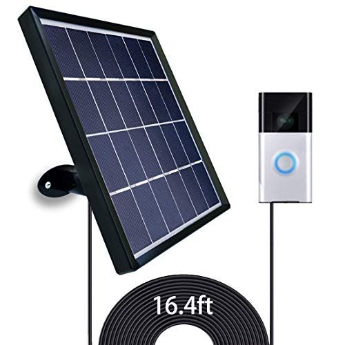 Uncle Squirrel Solar Panel Compatible With Ring Video Doorbell 2 Waterproof Charge Continuously 5 V 3 2 W Max Output Includes Secure Wall Mount 5 0m 16 F In 2020 Ring Video Doorbell Solar Panels Video Doorbell