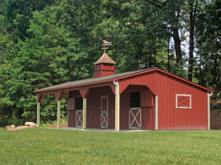 Wow, love this little stable block.   Shed Row Barns | Penn Dutch Structures