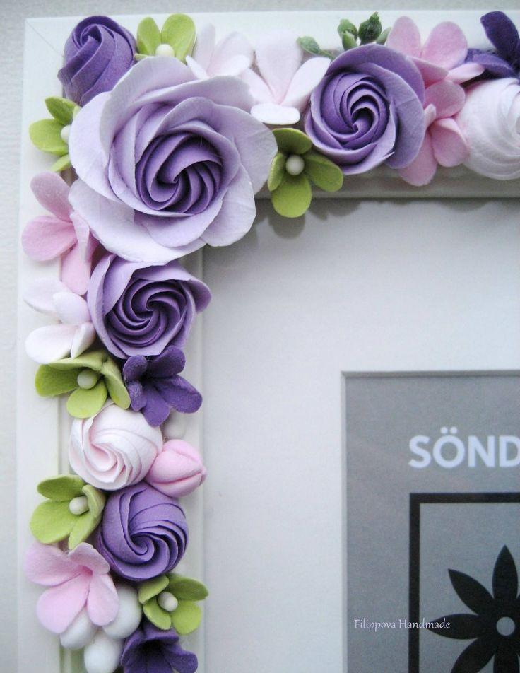 Flores de arcilla de polímero,