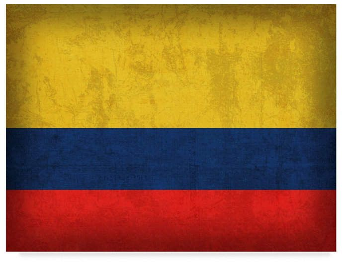 Red Atlas Designs Colombia Distressed Flag Canvas Art 32 X 24 Colombia Flag Flag Art Flags Of The World