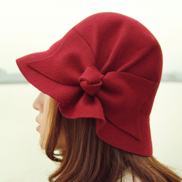 Red hat with big bow