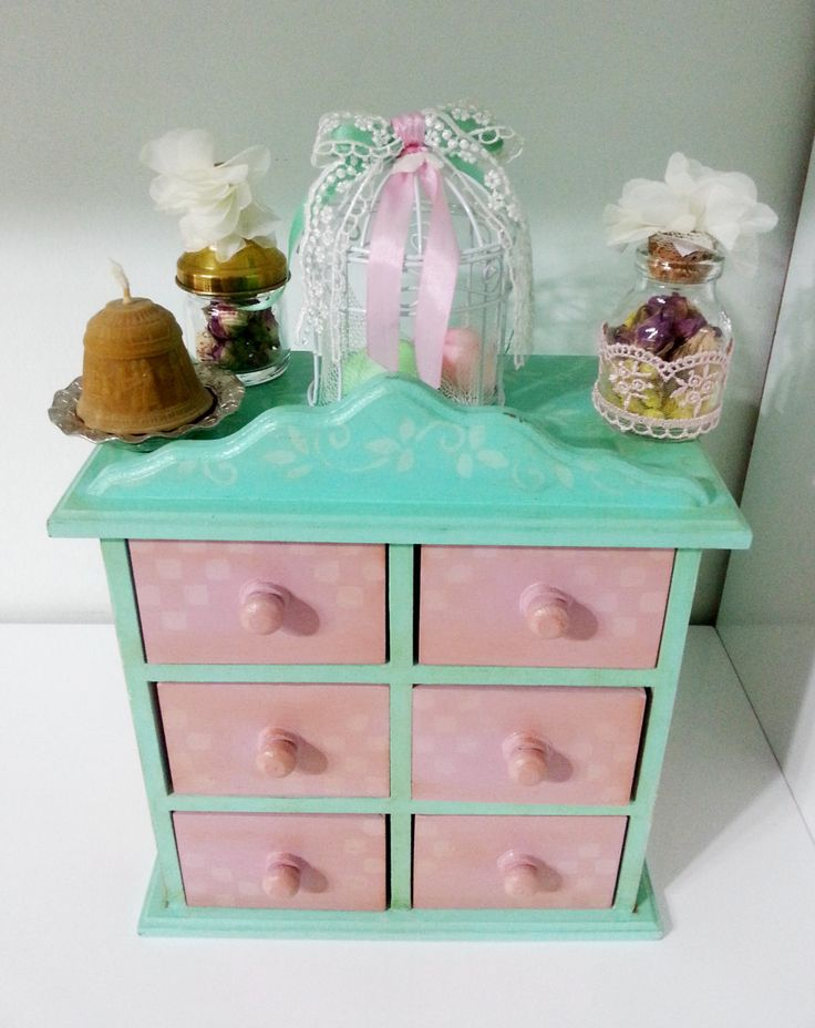 Mini Chest of Drawers Jewelry Box. Craft Supply / Coin Box. Keepsake Storage Apothecary Cabinet. Home Office Desktop Organizer. by CULTURALSHOPPING on Etsy https://www.etsy.com/listing/230836601/mini-chest-of-drawers-jewelry-box-craft