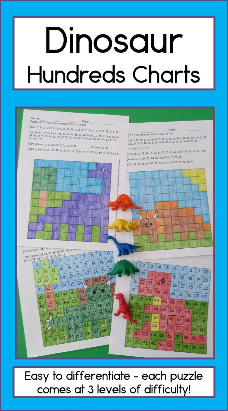 Harness your students' love for dinosaurs to get them working on 2 digit numbers, writing and fine motor development! 3 versions of each puzzle, just right for kindergarten and first grade. TpT $