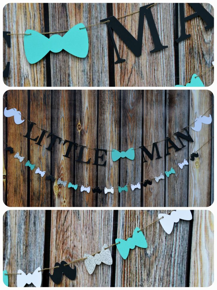 Little Man Banner, Baby shower Banner, Baby Boy Banner, Mustache Garland, Bow Tie Banner, Bow Tie & Mustache Banner, Banner, Photo Prop by LucasAndMeCreations on Etsy