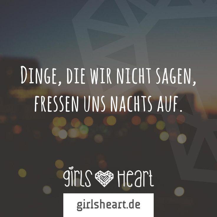 Also lieber eine Aussprache als schlaflose Nächte  Mehr Sprüche auf: www.girlsheart.de