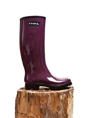 Roma Boots Glossy Plum
