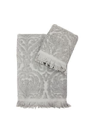 Add sophistication and style to your bathroom with this beautiful cotton jacquard towel. The velour texture of this towel will provide you with a luxurious feel.